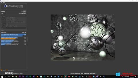 Screenshot CINEBENCH Windows 8