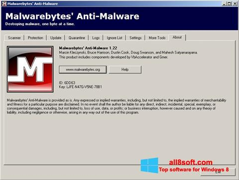 Screenshot Malwarebytes Anti-Malware Free Windows 8