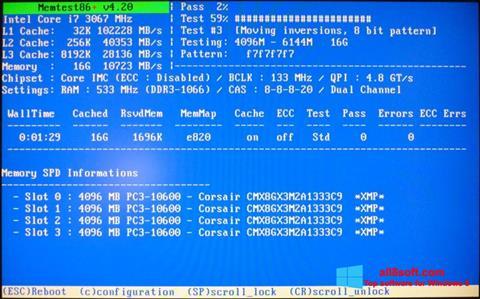 Screenshot MemTest Windows 8