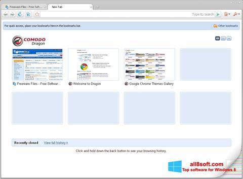 Screenshot Comodo Dragon Windows 8