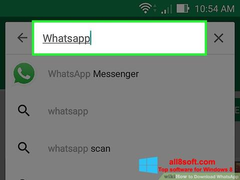Screenshot WhatsApp Windows 8