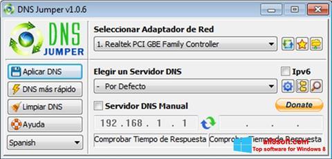 Screenshot DNS Jumper Windows 8