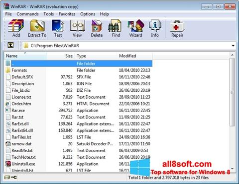 Screenshot WinRAR Windows 8