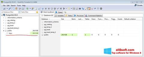Screenshot HeidiSQL Windows 8