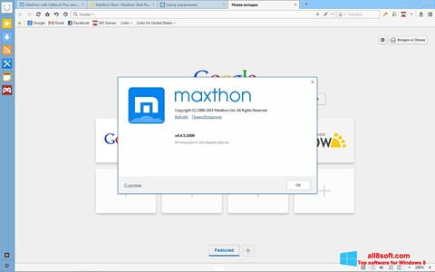 Screenshot Maxthon Windows 8