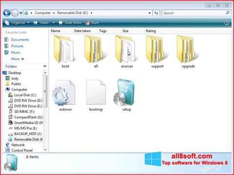 Screenshot Windows 7 USB DVD Download Tool Windows 8