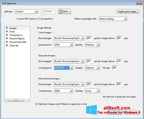 Screenshot Adobe Acrobat Pro DC Windows 8