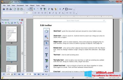 Screenshot Infix PDF Editor Windows 8
