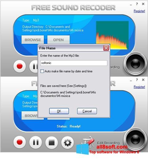 Screenshot Free Sound Recorder Windows 8