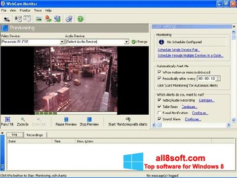 Screenshot WebCam Monitor Windows 8