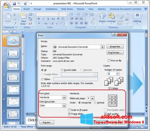 Screenshot Microsoft PowerPoint Windows 8