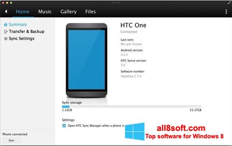 Screenshot HTC Sync Windows 8