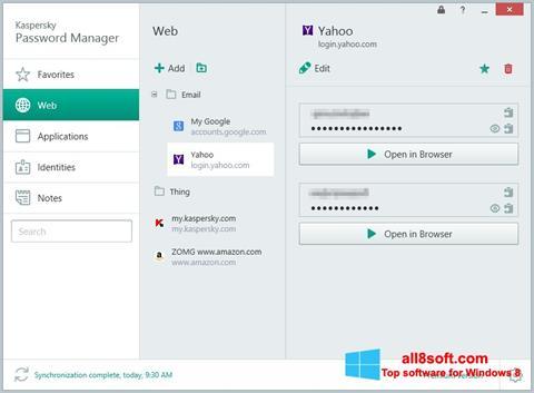 Screenshot Kaspersky Password Manager Windows 8