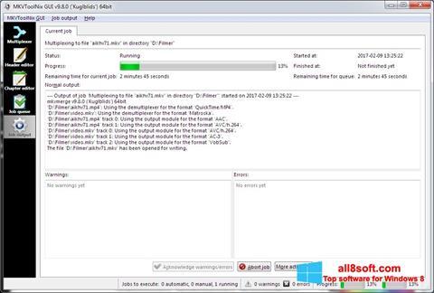 Screenshot MKVToolnix Windows 8
