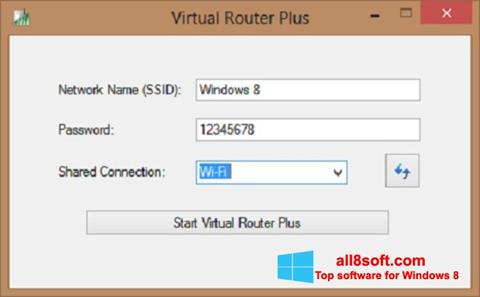 Screenshot Virtual Router Plus Windows 8