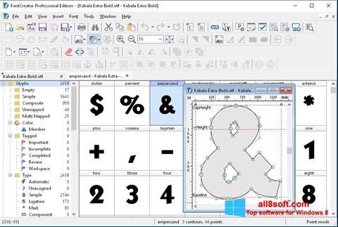 Screenshot Font Creator Windows 8