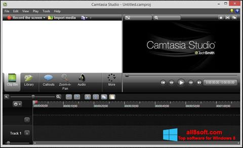 Screenshot Camtasia Studio Windows 8