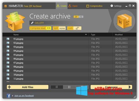 Screenshot Hamster Free ZIP Archiver Windows 8